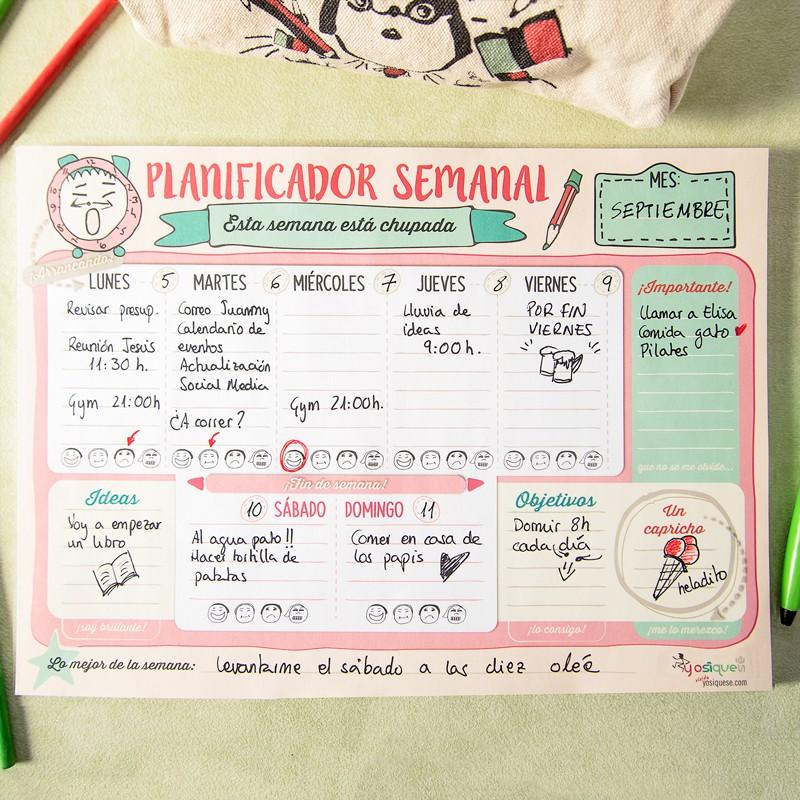 Planificador semanal - Yosíquesé
