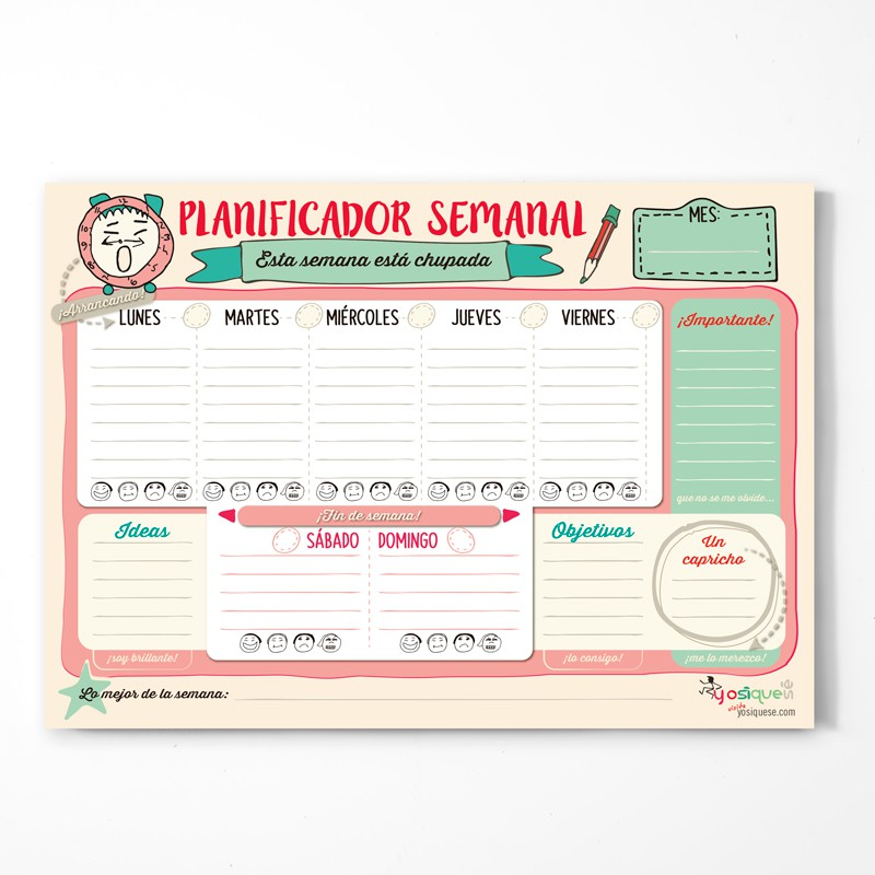 Planificador Semanal Yos Ques