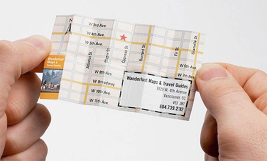 tarjeta con mapa yosques