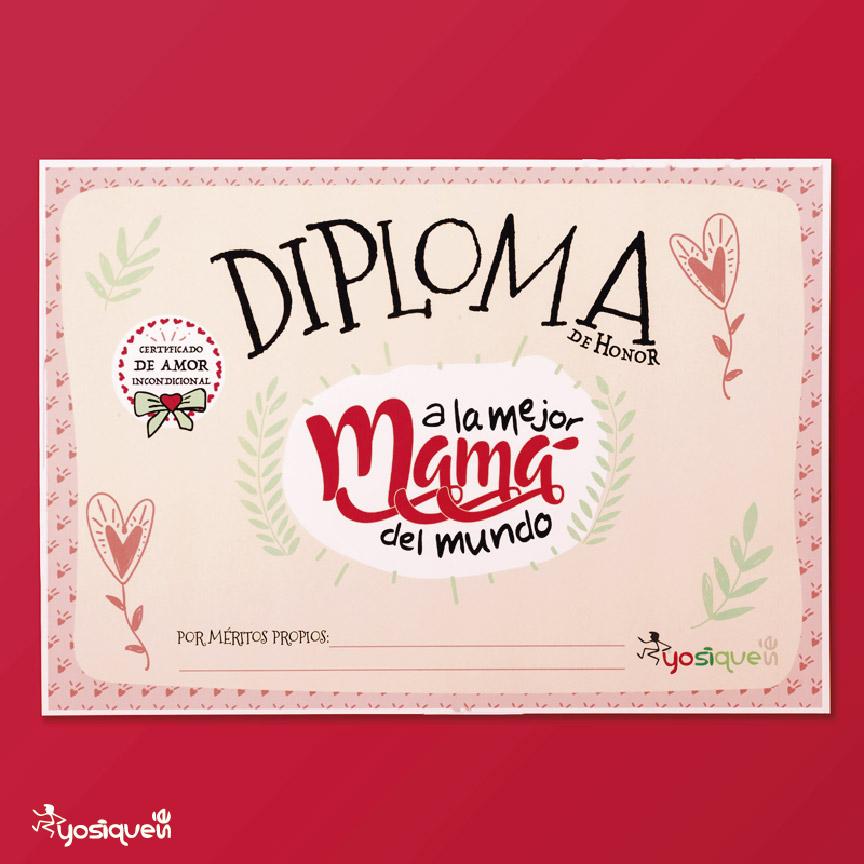 diploma mamá, yosíquesé