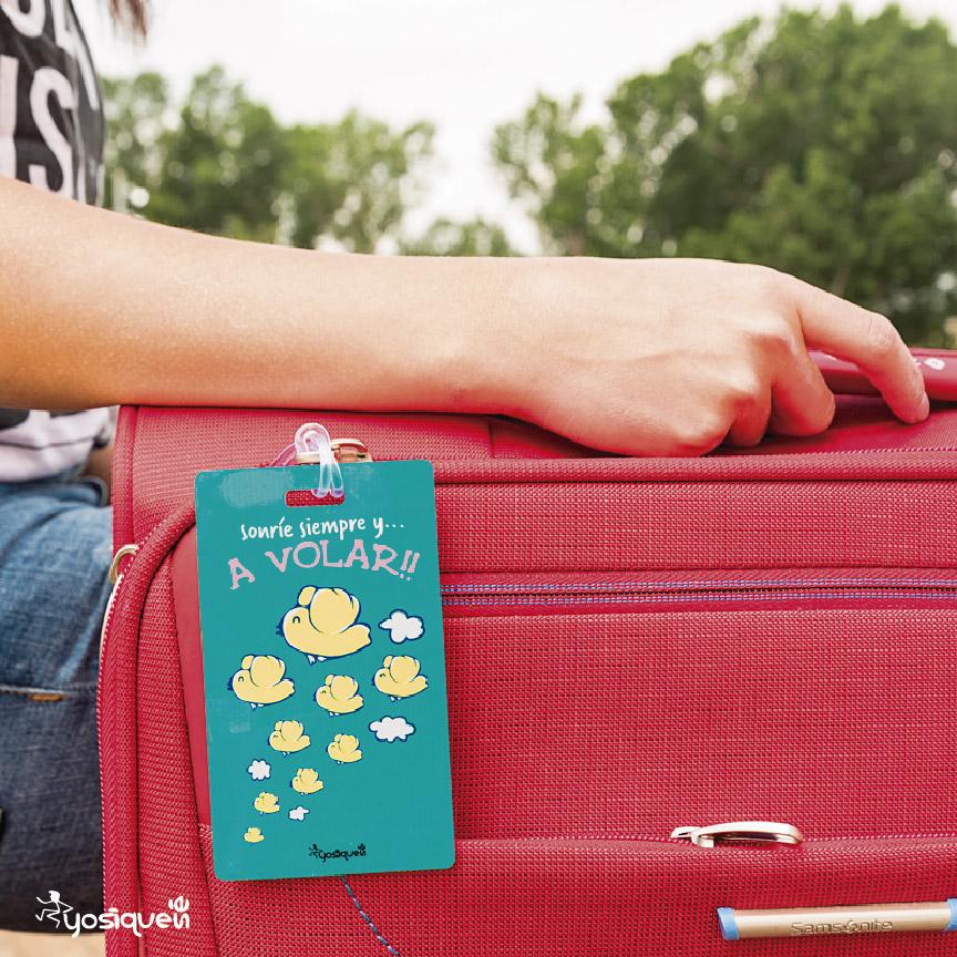 etiqueta de maleta, yosíquesé
