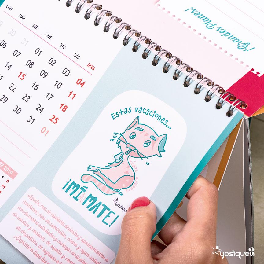 calendario 2019, calendario, regalo navidad, Yosíquesé