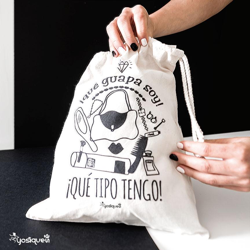 bolsa de tela, bolsa de viaje, bolsa cordon, regalo navidad, Yosíquesé